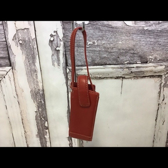 Coach Red Leather Cell Phone Case Holder